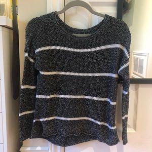 Grey Striped Hollister Sweater